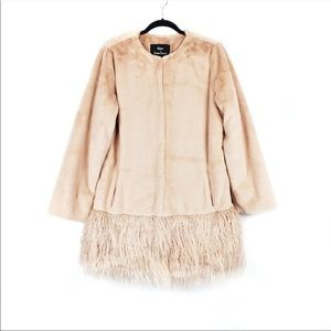 Dennis Basso faux sheared mink coat- BRAND NEW